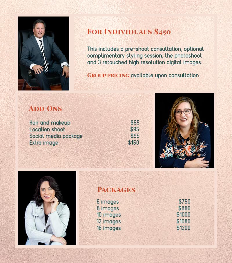 Joy Studio - Personal Branding Portraits pricing