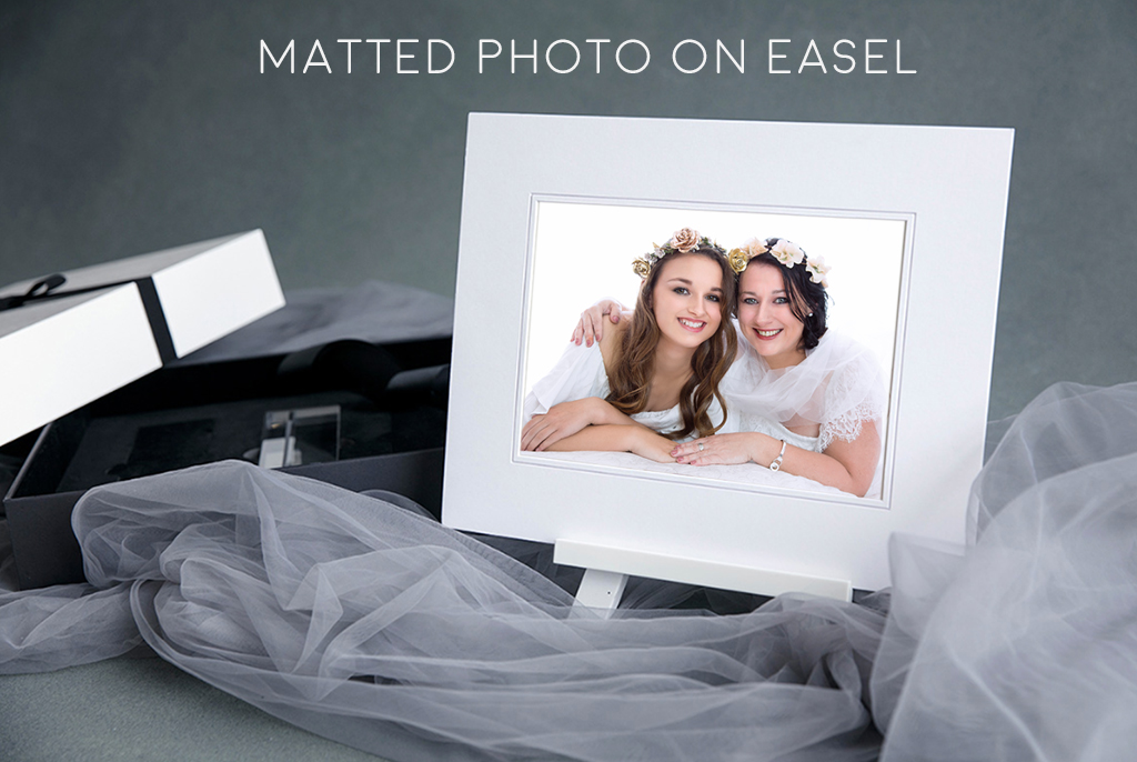 Matted-photo-on-easel